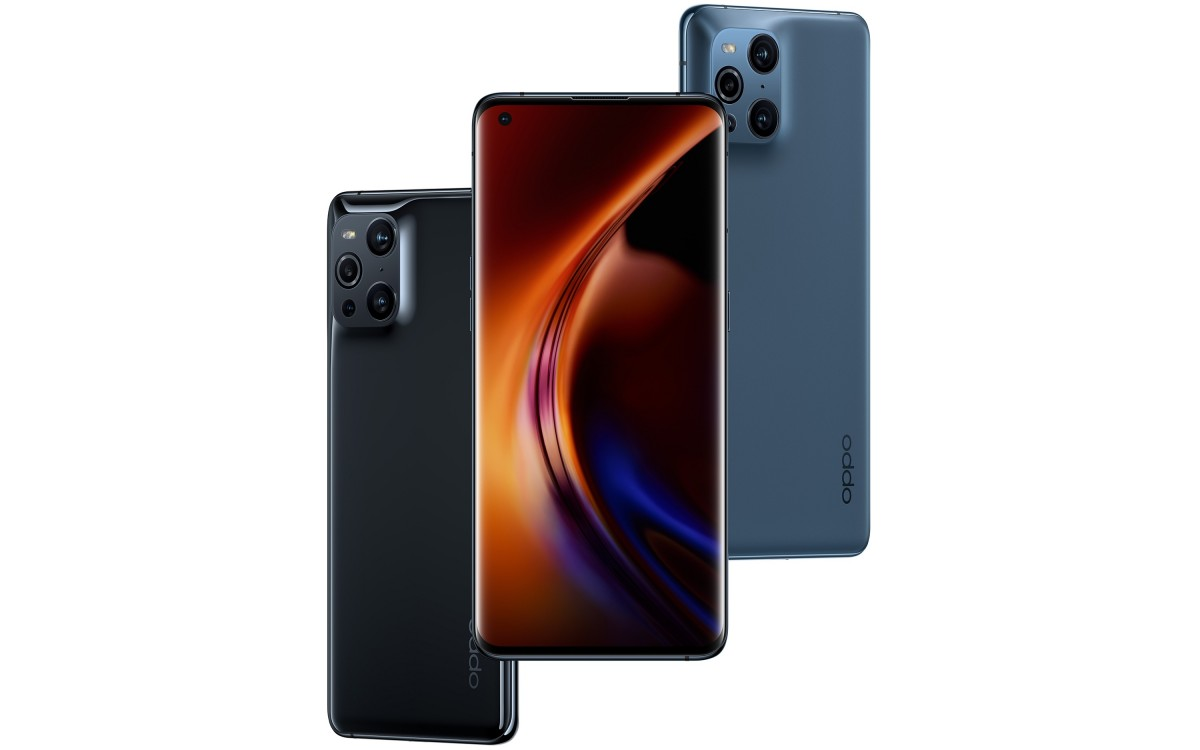 """The phone has a 6.7"""" LTPO AMOLED display with QHD+ resolution that allows the refresh rate to go between 5Hz and 120Hz, giving you extra smoothness when needed and battery savings when not. The Find X3 Pro also has a 240Hz touch sampling rate. Oppo Find X3 Pro is official with two 50 MP cameras The quad-camera setup on the back features two Sony IMX766 sensors (each of them 1/1.56"""" in size) - one for the main wide-angle camera behind an f/1.8 lens, the other for the ultra-wide-angle shooter sitting behind an f/2.2 lens. The main cam also offers OIS, EIS, and All Pixel Omni-directional PDAF that should deliver quick and accurate focus in all lighting conditions. There is also a 13 MP f/2.4 telephoto camera that offers a 5x hybrid zoom. It actually has a 52mm effective focal length (about 2x optical zoom) with the rest being covered by digital zooming. A 3MP macro camera completes the ensemble on the back. It's not your average macro unit, however, that's mostly there to make the numbers - this one lets you zoom really close (up to 60x magnification) and even seen sub-pixels on a smartphone display or microscopic pieces on a surface. It does 1080p video too. There is one camera on the front it has a 32MP sensor and is sitting inside a punch hole in the upper left corner. Oppo Find X3 Pro is official with two 50 MP cameras The Oppo Find X3 Pro also brings support for wireless charging - a first in the lineup. It is called AirVOOC Wireless Flash Charge and offers up to 30W through a dedicated stand. The company says filling the whole 4,500 mAh battery from 0 to 100% would take just 80 minutes. Of course, there's also speedy wired charging - SuperVOOC 2.0 65W, which gets the battery from 0 to 40% in 10 minutes, and should deliver a full charge in around 30 minutes. Oppo Find X3 Pro is official with two 50 MP cameras The Oppo Find X3 Pro comes with 5G connectivity, thanks to the Snapdragon 888 chipset and its Snapdragon X60 modem. It will support up to 13 bands, both on t"""