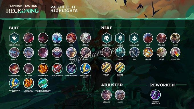 TFT patch 11.11 early notes: Skirmisher nerfs, Karma & Aphelios buffs, more