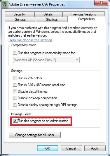 How to start the software on the same system with admin rights